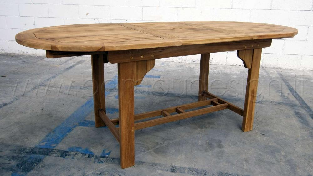 Tavoli Da Esterno Milano.Tavolo In Teak Ideale Per Esterno 145 195x90 H75 Cm Bambu Design