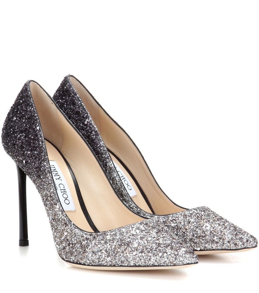 Jimmy Choo - Romy 100 glitter pumps - Jimmy Choo's Romy 100 pumps are  crafted with