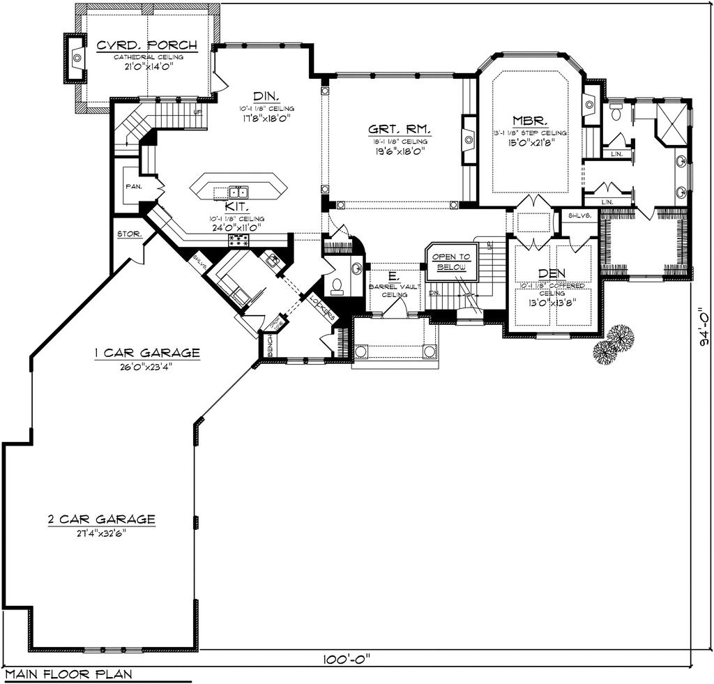 Awesome 4 Car Garage House Plan Angled One Story Ranch With Living Quarter Cost Apartment Abov Garage House Plans Garage Floor Plans French Country House Plans