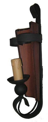 Aplique r stico con forja madera y teja apliques for Decoracion de paredes rusticas