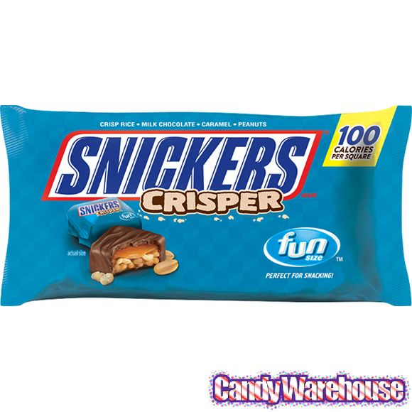 snickers crisper fun size candy bars 15 piece bag snickers crisper chocolate candy bar snickers pinterest
