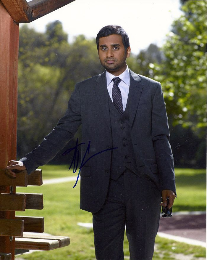 Aziz Ansari Autographed Signed Parks And Recreation 8x10 Photo