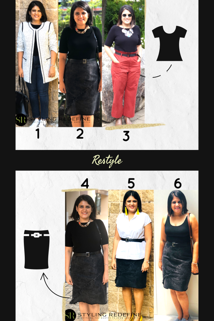 Oh, the infinite possibilities that come with black! 🖤 A basic top & skirt, when paired well, can create so many appealing combinations.  Which look is your favourite?👆🏻   #JaineeStyles #StyleFix #StylingRedefine #Rewear #Restyle #ImageCoach #ImageConsulting #ImageCoaching #ImageConsultingSingapore #ImageConsultingMumbai #ImageCoachIndia #IndiansInSingapore #SingaporeIndians #OutfitInspo #OutfitIdeas #Styling #Fashion #HowToStyle #BlackOutfit #BlackLife #Black
