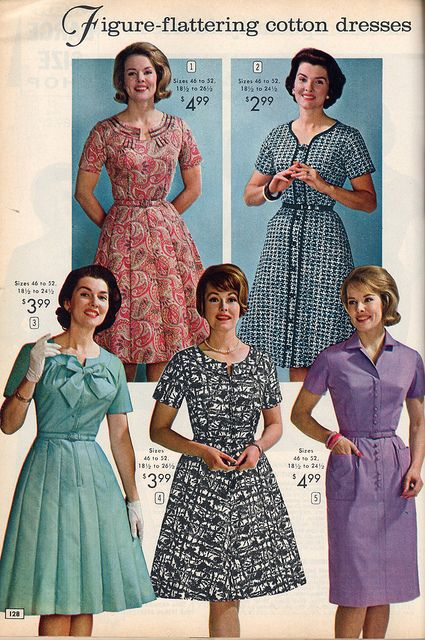 b806d895b Five lovely daywear dresses from the NBH catalog, 1964. #vintage #1960s  #dresses #fashion #catalogs