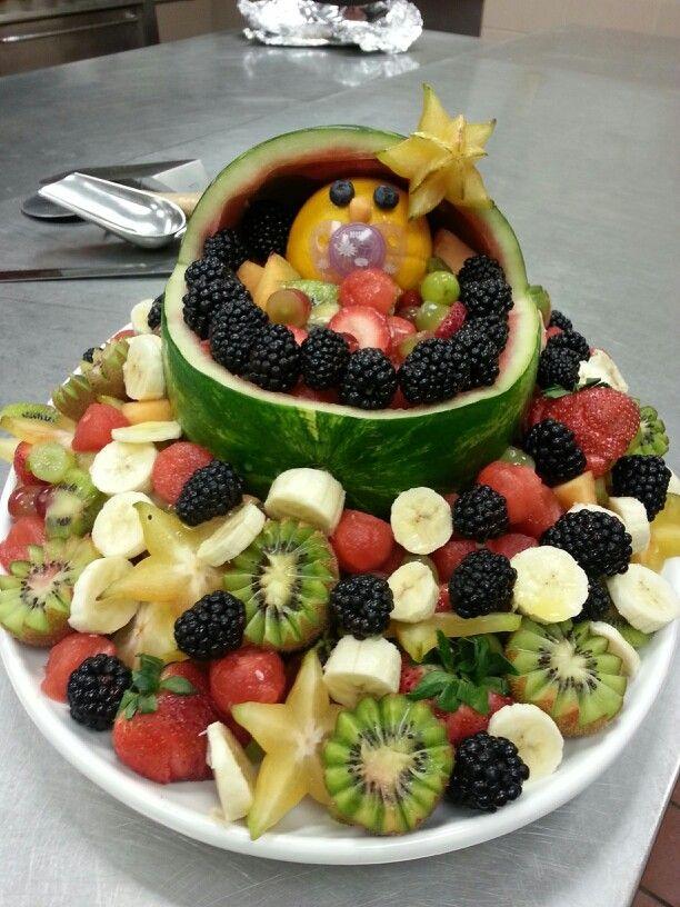 fruit bassinet i made for a baby shower fruit basket baby shower