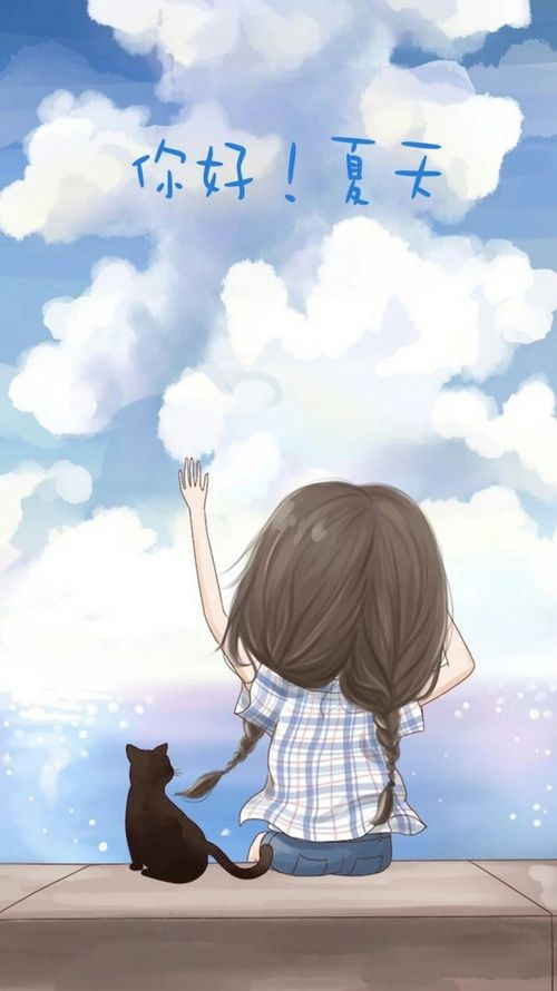 Cat And Girl Image Cute Drawings Anime Art Girl Drawings