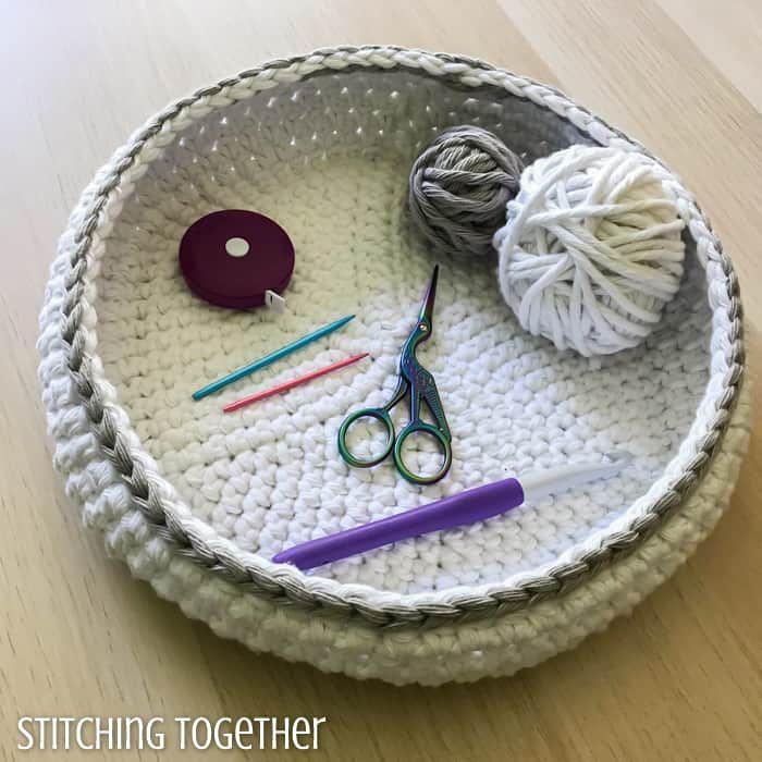 The Bella Crochet Bowl #crochetbowl