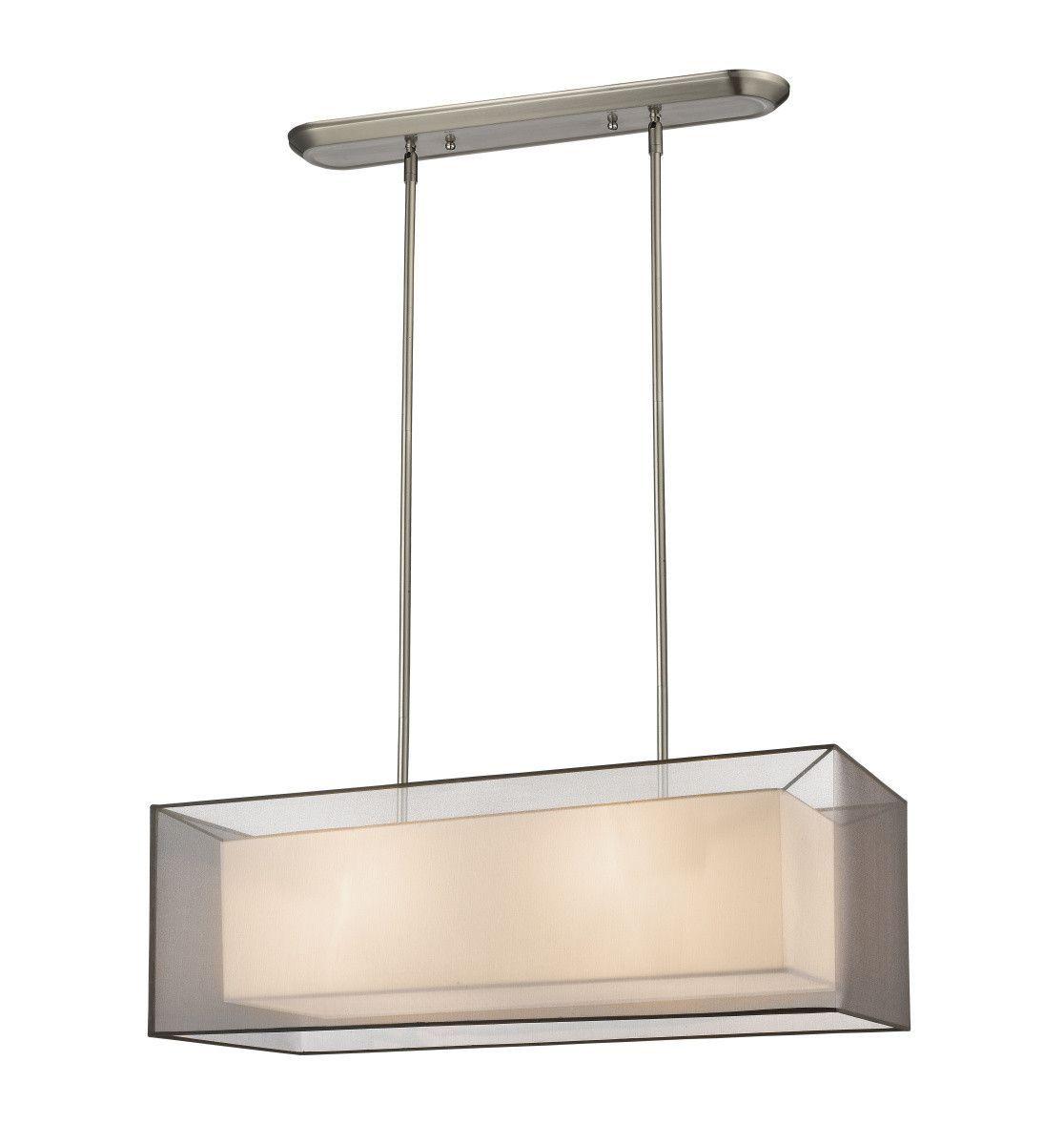 Sedona Brushed Nickel Black/Super White Pool Table Light