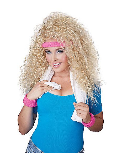 Let's Get Physical Blonde Wig - Spirithalloween.com
