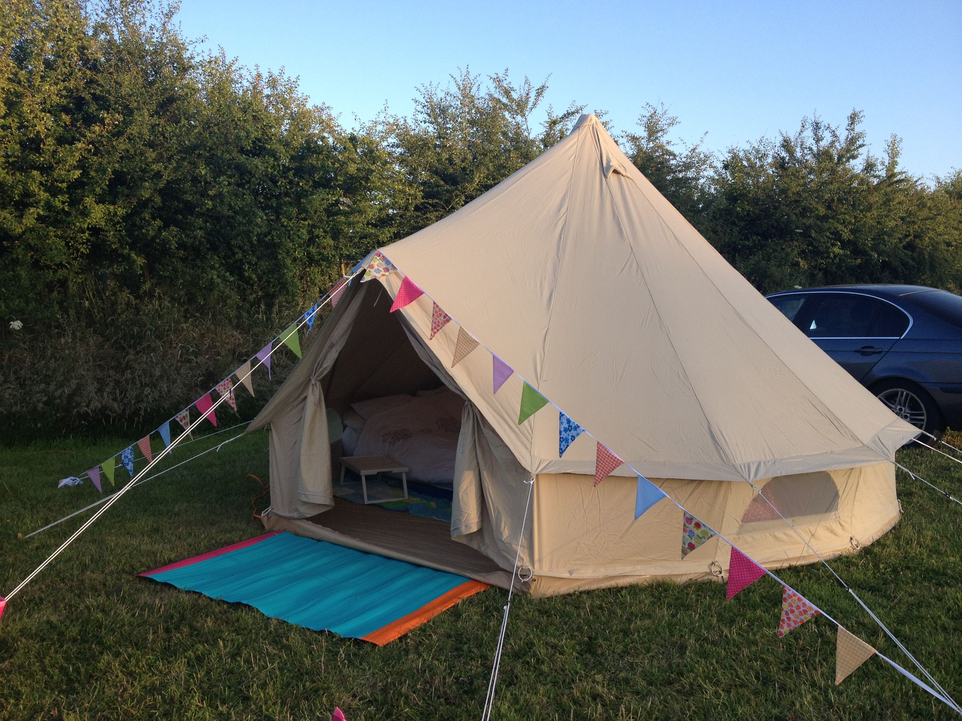 Our Baker and Bell 4m Bell Tent.....I think my bunting & Our Baker and Bell 4m Bell Tent.....I think my bunting looks ...