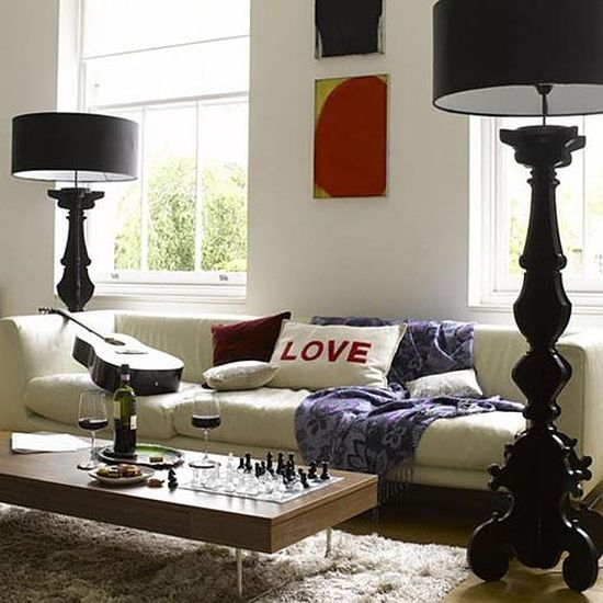 High Quality Black Ornate Floor Lamp Ideas For Living Room