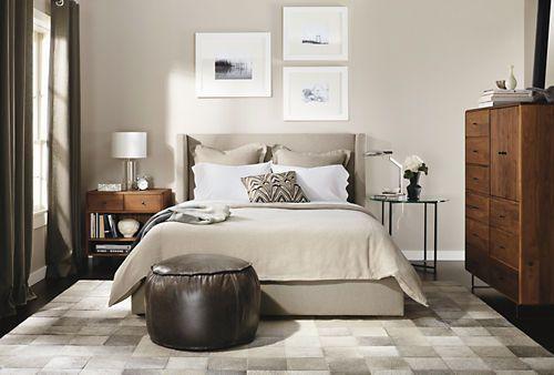 Classic End Tables In Natural Steel   Nightstands   Bedroom   Room U0026 Board