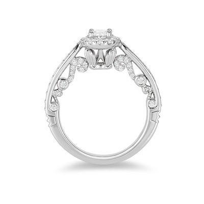 Enchanted Disney Elsa 5/8 CT. T.W. Snowflake Engagement Ring in 14K ...