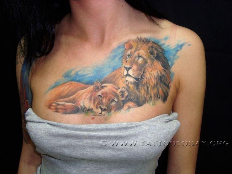 Lion cub tattoo animal ink pinterest cubs tattoo for Lion and cub tattoo