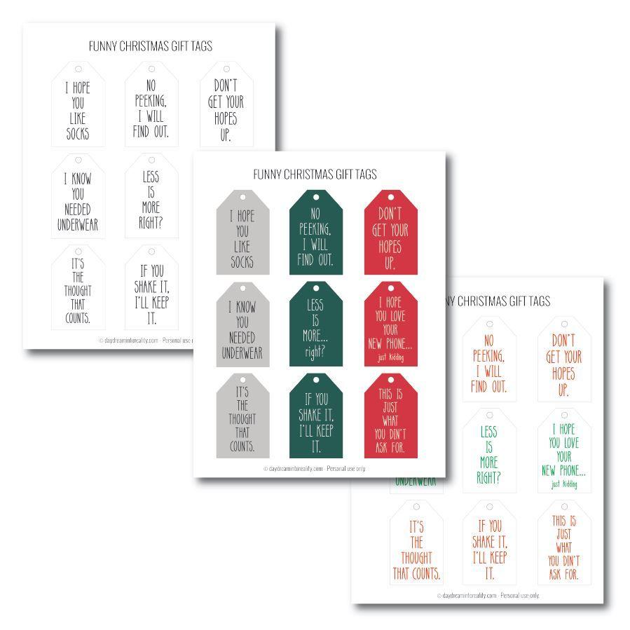 50+ Free Printable Christmas Gift Tags (Also blank