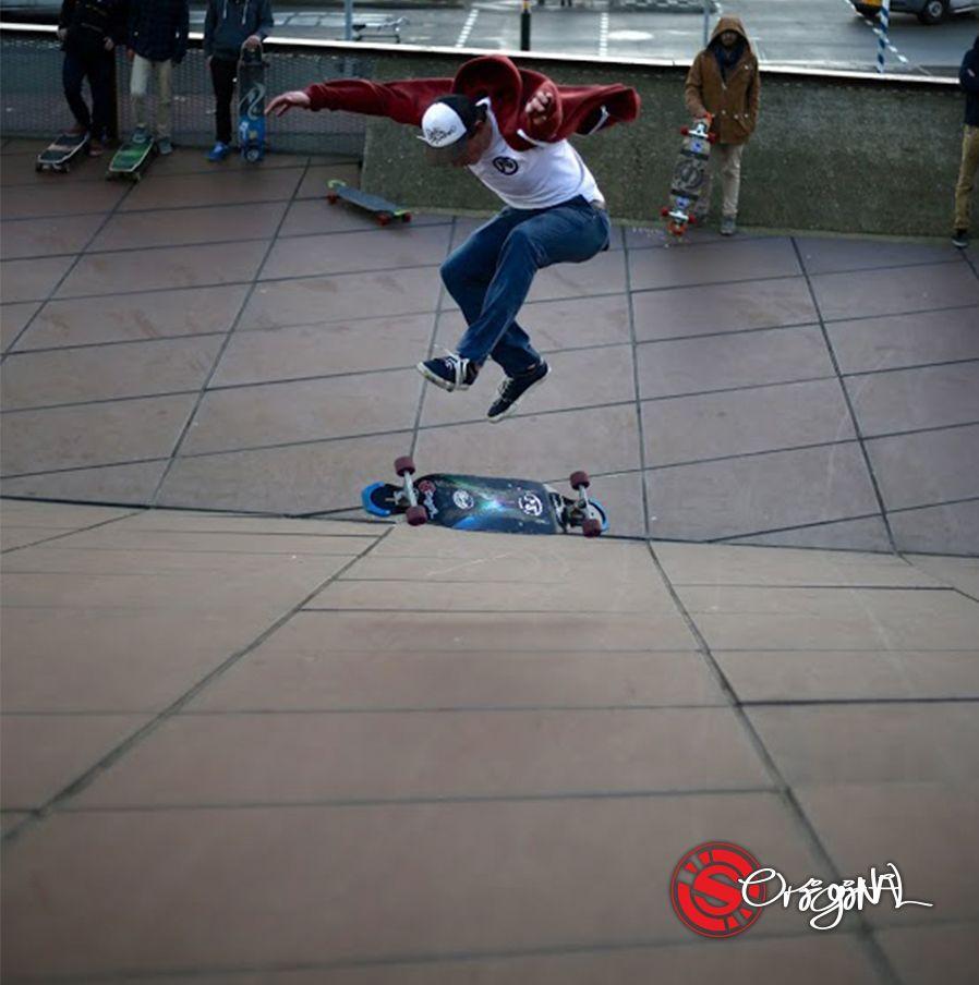 Longboard II Original Skateboards Team Rider, Sam Holding, throws down a solid Varial Flip on the Apex 37 DiamondDrop.  Photo: Andrei Churakov   See the board: http://originalskateboards.com/longboards/apex-37-diamonddrop