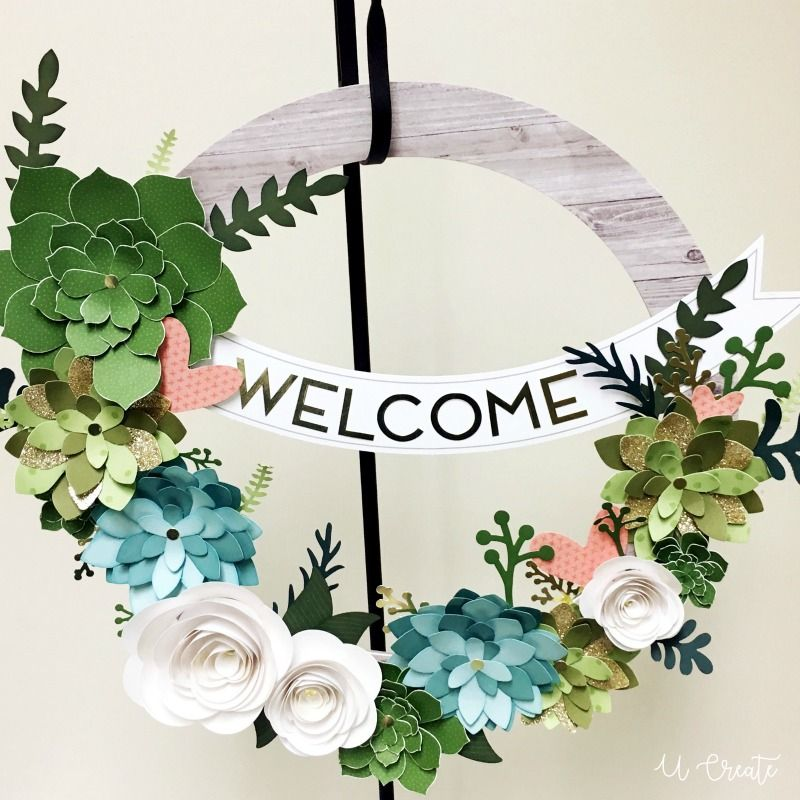 Craft Night Giveaway Gorgeous Paper Flower Wreath U Create