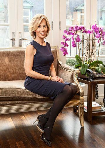 beautiful pantyhose on women business professional
