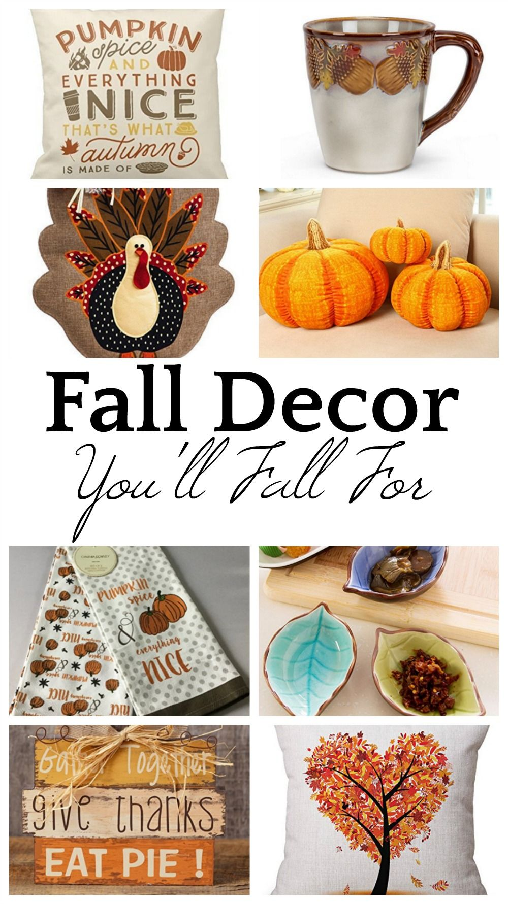 Fall Decor You\'ll Fall For | Pinterest | Thanksgiving decorations ...
