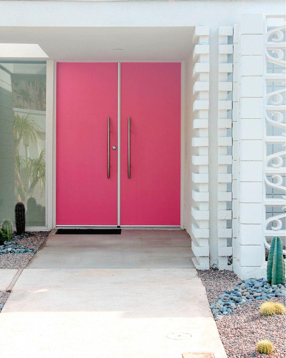 Pink front door pink houses pinterest front doors palm pink front door rubansaba
