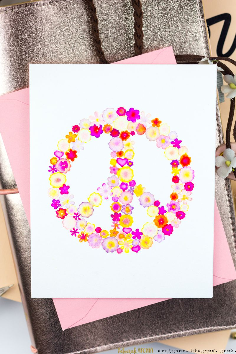 flower power peace  love cards  casual fridays february
