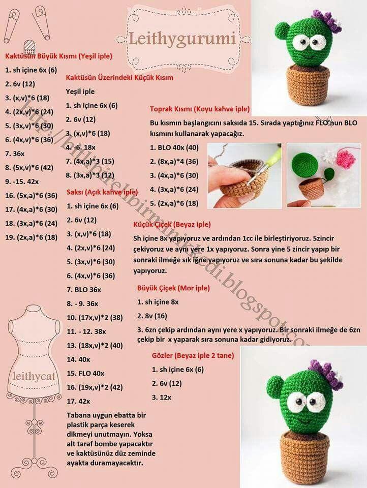 Mein kleiner grüner Kaktus ☺   Amigurumi   Pinterest   Kleiner ...