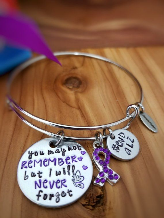 91ff998528e Alzheimer Awareness - Memorial Jewelry - You may not remember but I will  never forget - Dementia Awa
