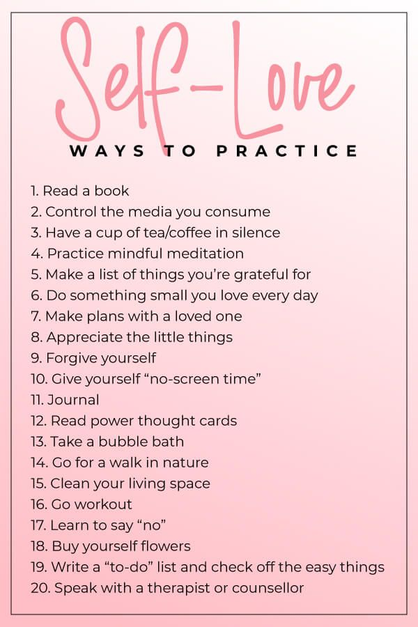 20 Ways to Practice Self Love - Dana Nicole