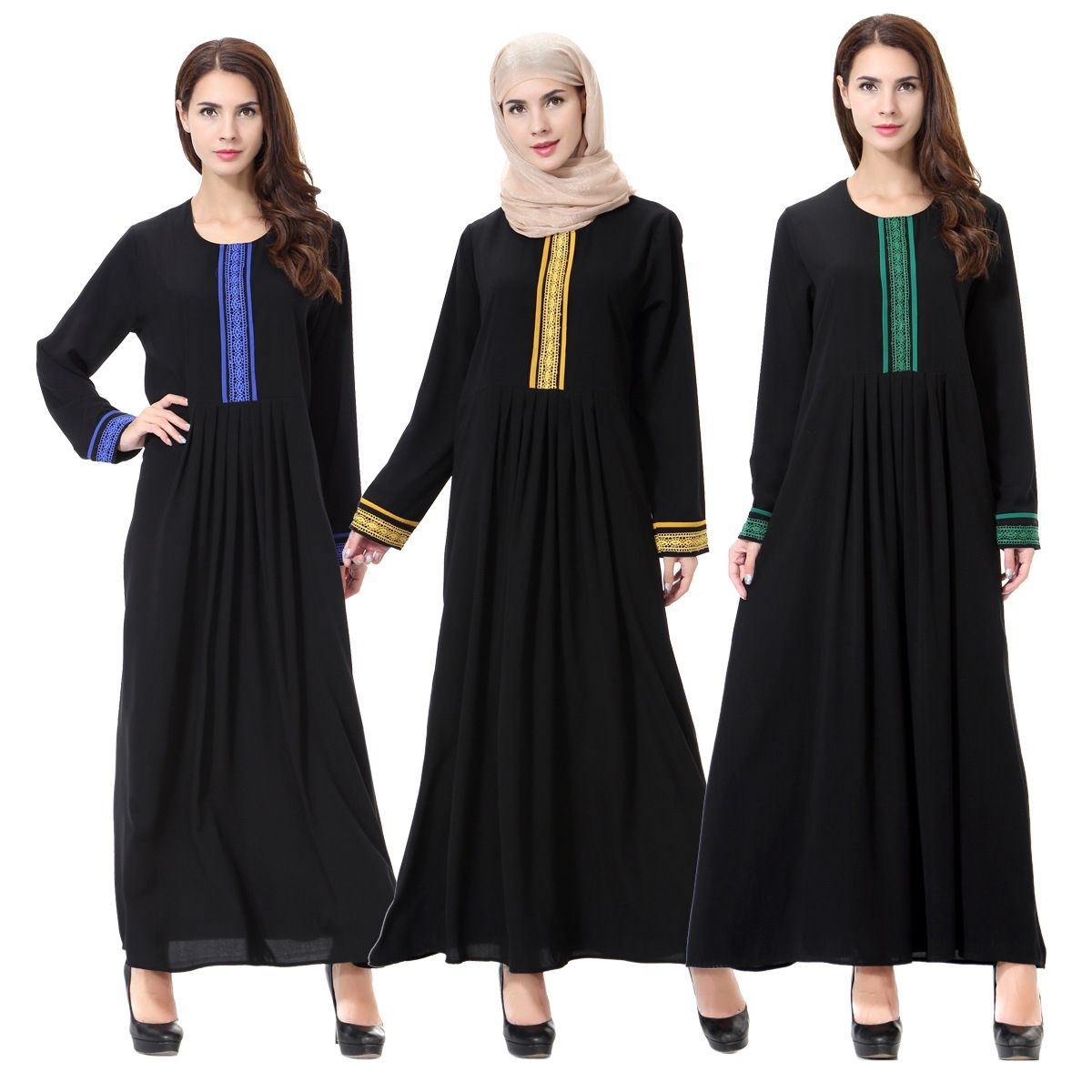 4cd8ba4a2590a Click to Buy << Muslim Islamic Clothing Dress Women Arab Middle East ...