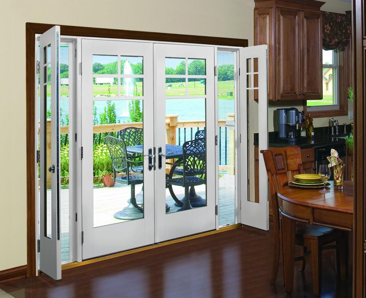 Therma Tru Vented Sidelites Let In Fresh Air With Style In 2020 French Doors Patio Exterior French Doors Exterior French Doors Patio