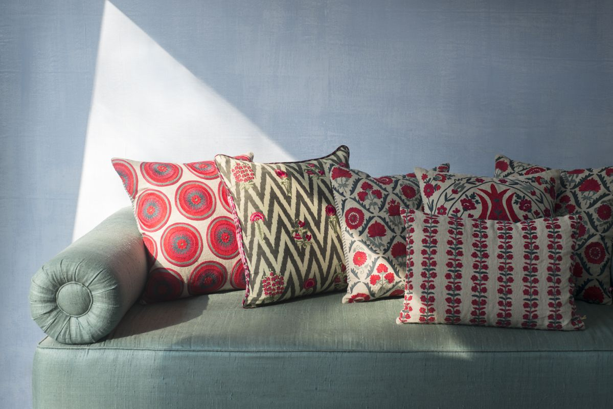 Tashkent an eclectic collection of cushions inspired by suzani a