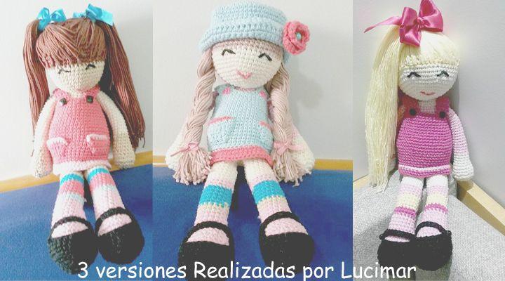 Versiones de la muñeca Anni de anigurumis | Elaboración | Pinterest ...