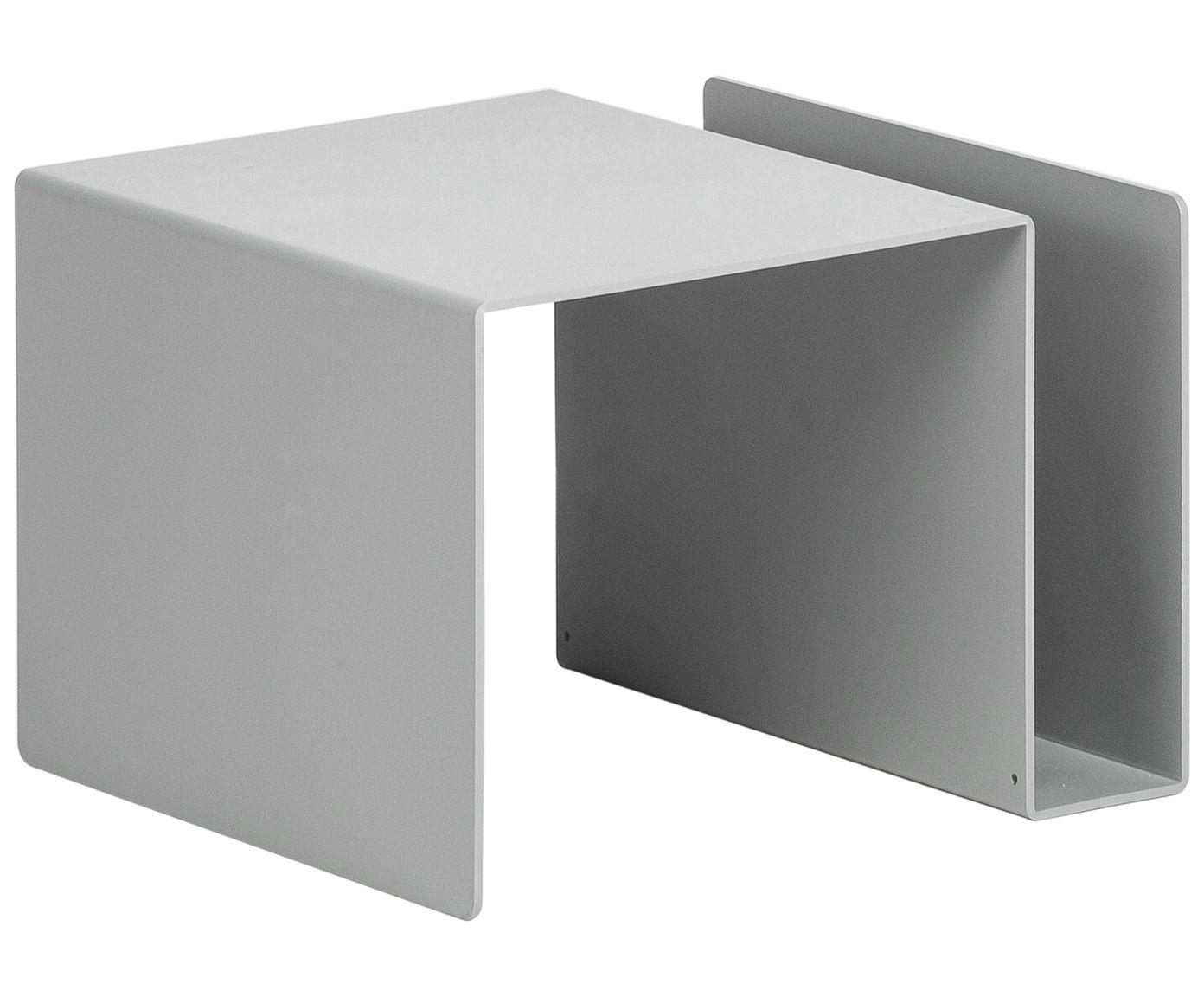 ein tisch mit vielen facetten der hellgraue beistelltisch huk von emform besticht mit seinem. Black Bedroom Furniture Sets. Home Design Ideas
