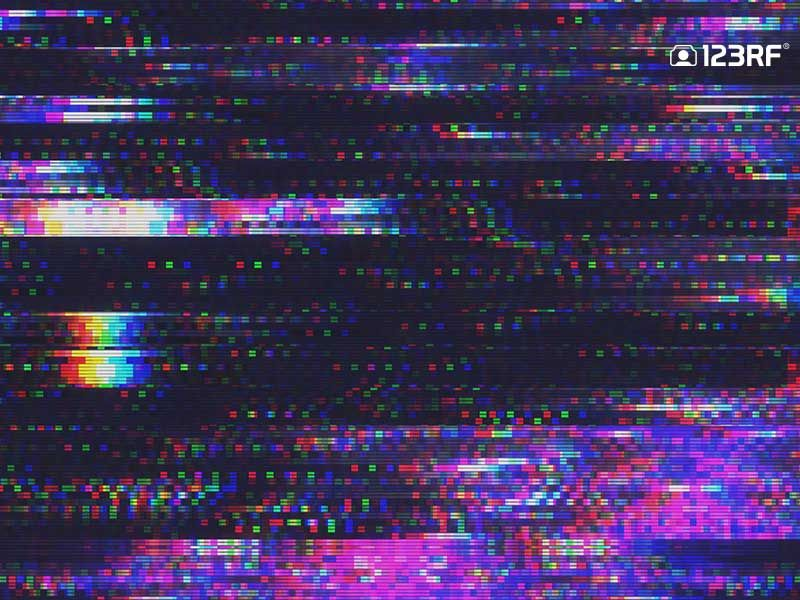 Get Distorted Delving Into The Digital Image Glitch Effect Digital Pixel Noise Glitch Effect Projector Photography Glitch Effect Purple Aesthetic