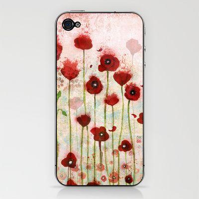 Poppies iPhone & iPod Skin by Minasmoke - $15.00