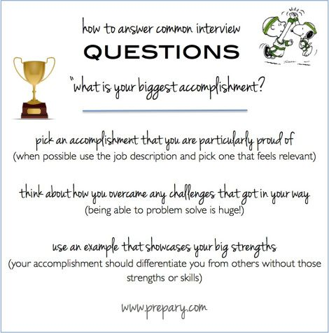Common Interview Questions: What is your biggest ...