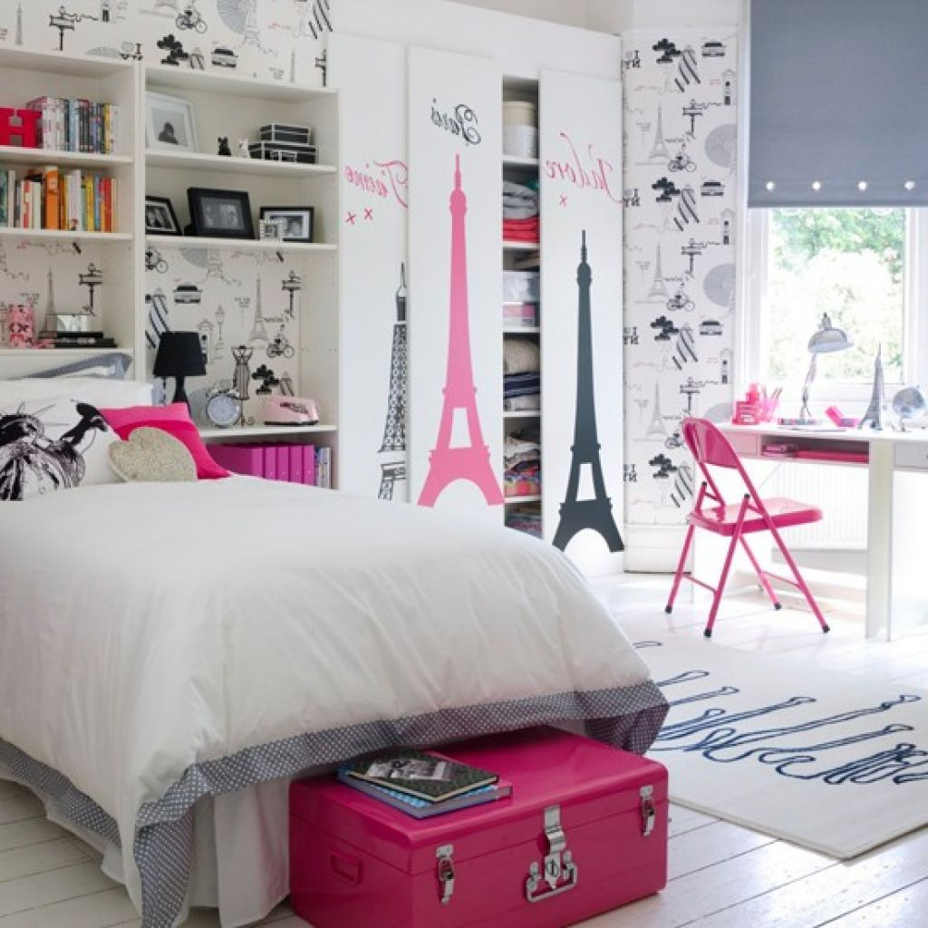 Lovely Finest Teen Bedroom Themes With Fantastic Paris Theme Bedroom Ideas For  Teenage Girls With Single Bed