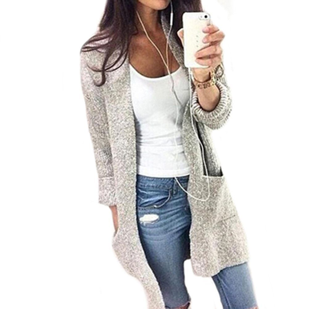 Buy GZHOUSE 2017 Autumn Winter Long Cardigan Sweater Women Coat ...