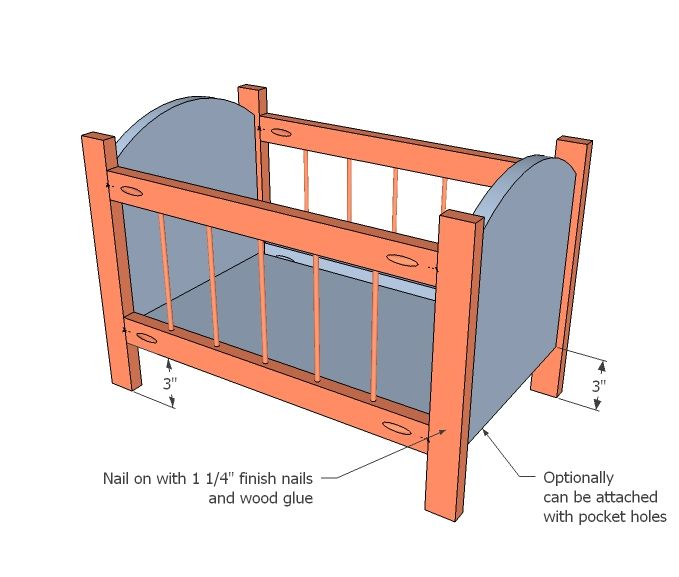 Ana White | Build a Fancy Baby Doll Crib | Free and Easy DIY Project ...