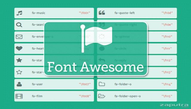 Cara Menggunakan Icon Font Awesome Dalam Css Dan Html