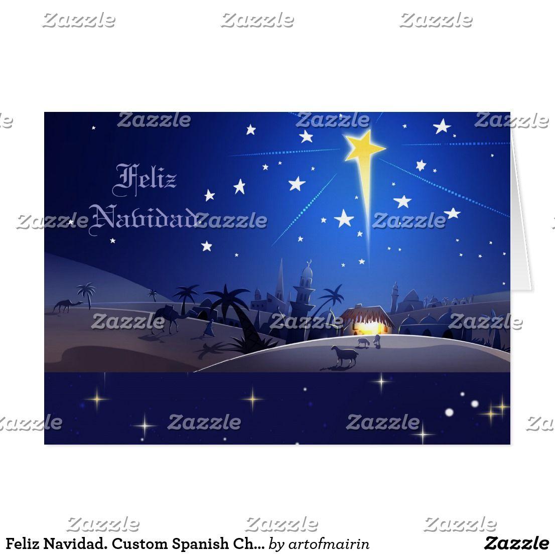 Feliz Navidad. Custom Spanish Christmas Cards   Custom Christmas ...