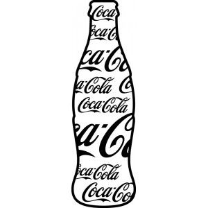 how to draw a coke bottle easy