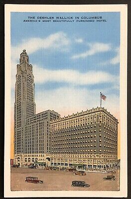 Vintage OH Postcard: Deshler Wallick Hotel & LeVeque-Lincoln Tower, Columbus  | eBay