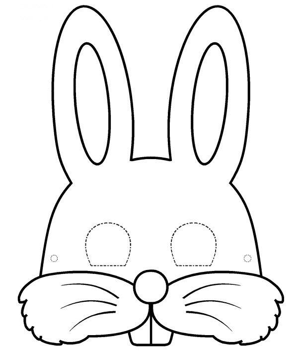 masque de lapin a colorier kleurplaten pinterest