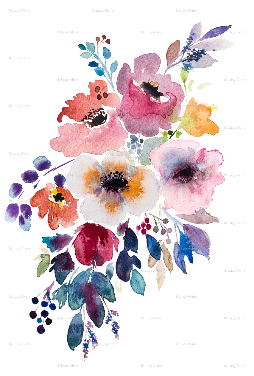 Colorful Fabrics Digitally Printed By Spoonflower Fall Flower