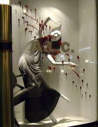 Image result for store window display ideas halloween