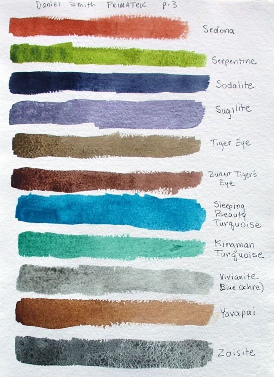Water Color Paints Of Pigments Ground From Semi Precious Stones