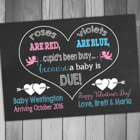 wording for valentines day pregnancy announcement