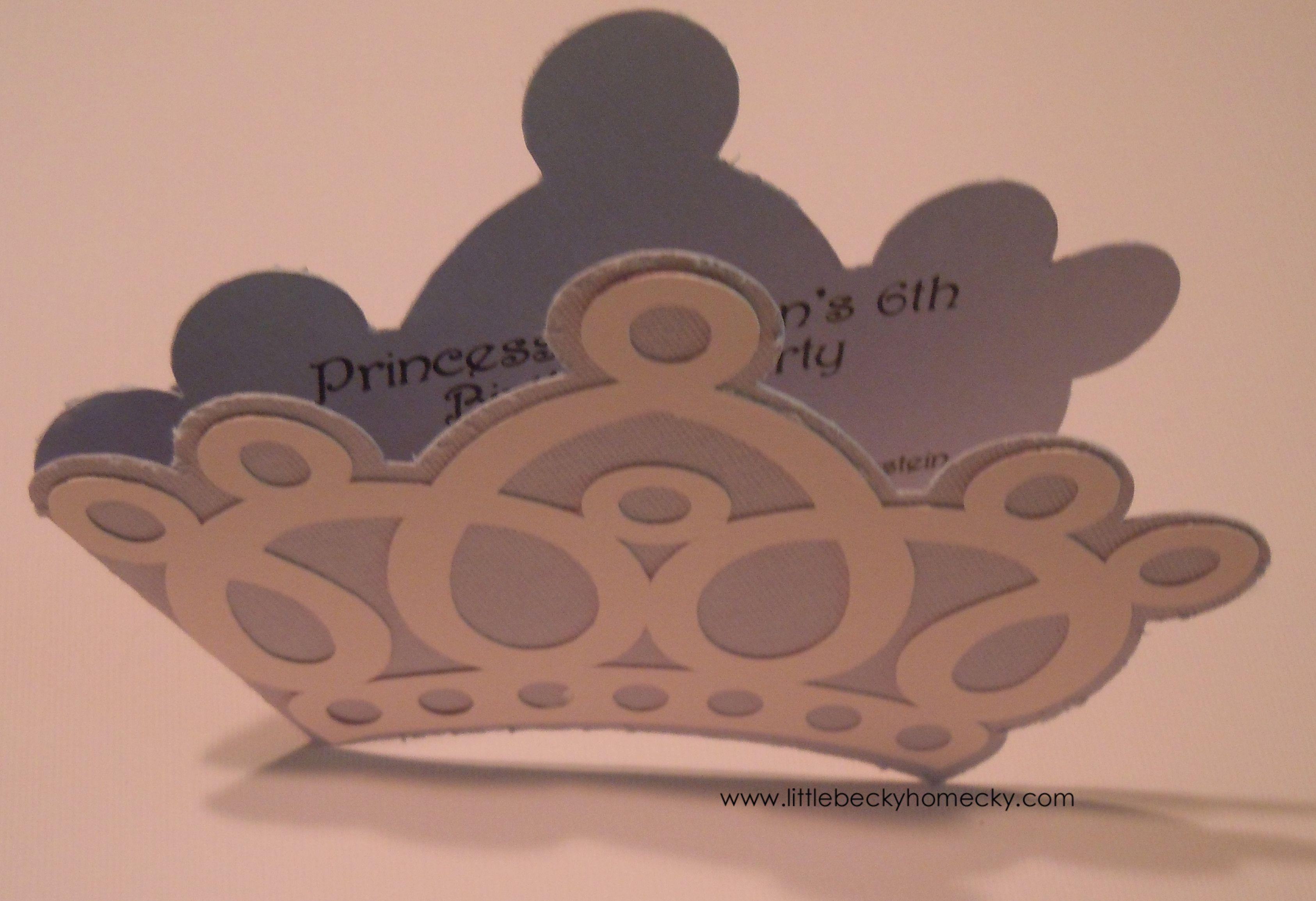 Princess Crown Invitations