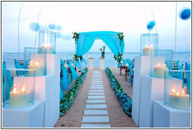 5 Ideas For A Great Beach Themed Wedding In Puglia: Beach Wedding Theme Ideas Simple Blue Beach Wedding